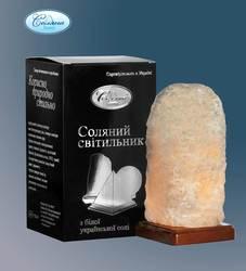 Соляной светильник Скала в красивой подарочной упаковке, (Украина)